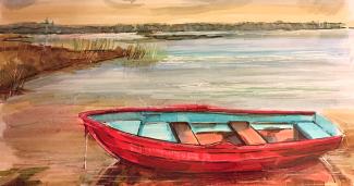 Об одинокой лодке