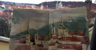городской скетч Прага